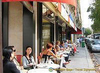 A typical café scene in St-Germain des-Prés