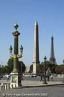 The Place de la Concorde  is one of Europe's most magnificent and historic squares