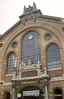 Front facade of Great Market Hall, Budapest