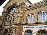 Front facade of the Great Market Hall in Budapest