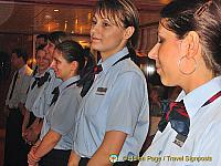 The lovely girls who looked after guests at mealtime[Budapest River Cruise - Farewell Dinner]