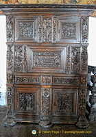 Oak cupboard dated 1570