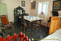 Dining area of the Shannon farmhouse