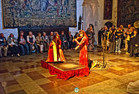 Medieval banquet music in the Great Hall