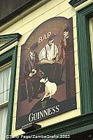 Men's best friends - his Guinness and his dog