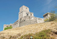 La Rocca, once an intimidating castle to the people of Assisi