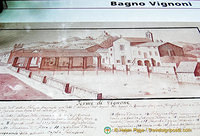 Picture of the Bagno Vignoni bath