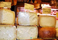 A mix of Italian cheeses