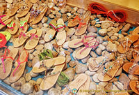 Lots of beautiful sandals in Anacapri