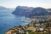 Aerial view of Capri town