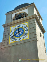 Capri clocktower at the Piazetta