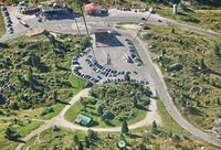 Aerial view of Lagazuoi cable car base station