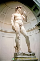 The statue of David is 5.17 metres tall