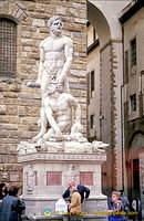 Statue of Hercules and Cacus at the entrance of the Palazzo Vecchio