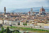Panoramic Florence city view from Piazzale Michelangelo