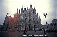 The Gothic Duomo with its spires piercing the skies