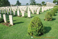 The Cassino War Cemetery is maintained by the Commonwealth War Graves Commission