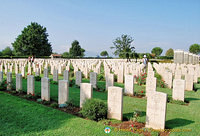 Most of the 4,266 Commonwealth servicemen buried here died in the four battles for Monte Cassino