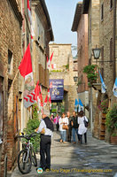Corso Rossellino, the main street in Pienza