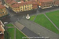 The Field of Miracles from the Tower of Pisa