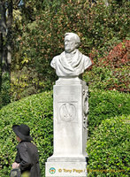 Bust of Richard Wagner in the Giardini Pubblici