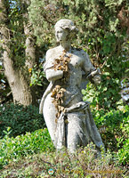 One of the beautiful statues in Giardini Pubblici