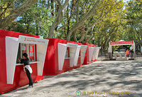 Biennale ticket booths