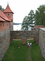 Inner garden of Trakai Castle