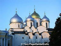 St Sophia Cathedral sits inside the Detinets and was built between 1045-1050.