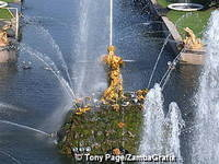 The Grand Cascade is the centrepiece of Peterhof