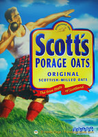 Scott's porridge makes you strong!