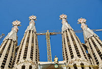 Each of the bell towers is topped by Venetian mosaics