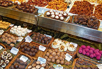 An amazing range of truffles at this La Boqueria stall