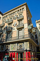 Casa Bruno Cuadros, one of the interesting buildings on Las Ramblas