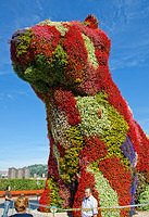 Jeff Koons' Puppy is a permanent installation at the Guggenheim Bilbao