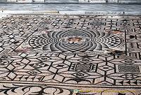 Close-up of the Roman mosaic in Carmona