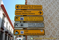 Tourist signs in Carmona