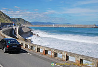 The beautiful Getaria coastline