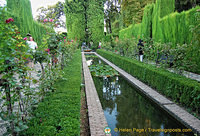 Generalife Lower Gardens:  Water canal