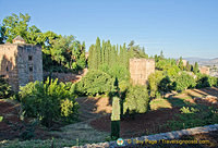 Some of the old structures of The Generalife
