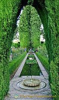 Generalife Lower Gardens - One of the many beautiful water features of the Generalife