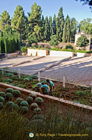 Work being done in this section of the Generalife