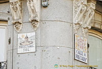Tile street sign of Puerta del Sol