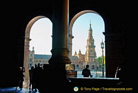View of one of the towers of the Plaza Espana