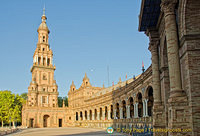 View of the semi-circular building