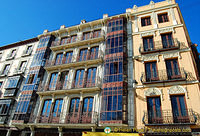 Beautiful wrought iron balconies